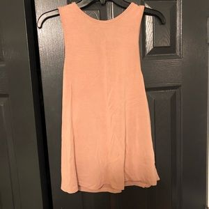 Salmon lace back top